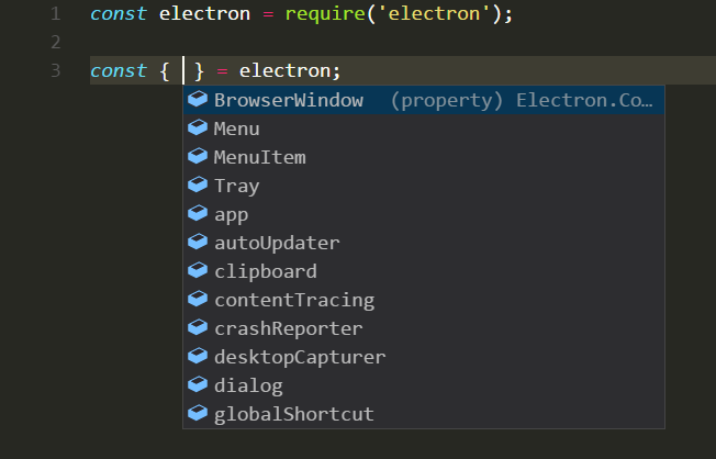 VisualStudio Code — JavaScript Code Completion and